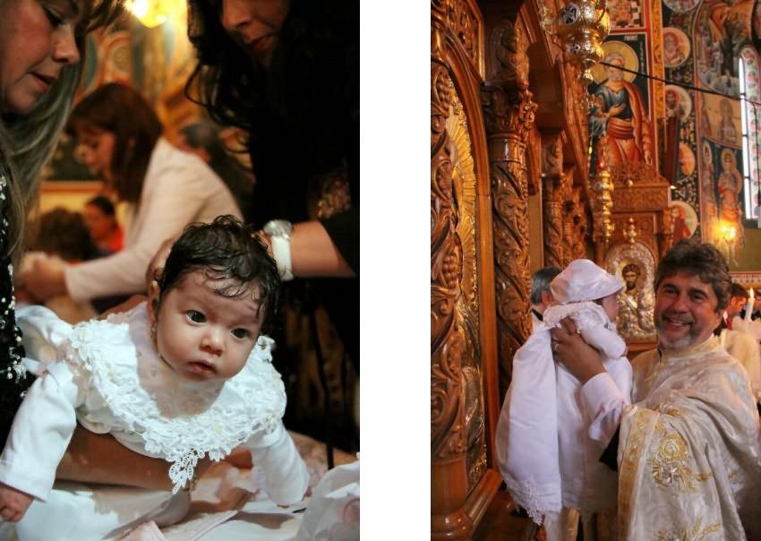 Fotografie cu bebelusul botezat