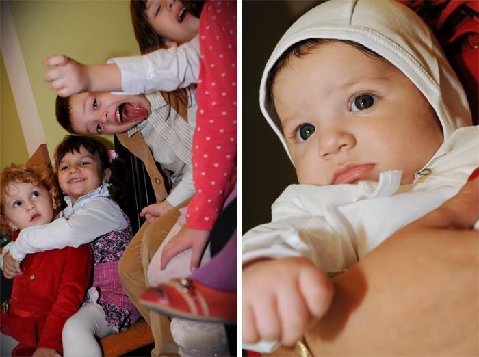 Fotografii de la botezul lui David Alexandru si ceilalti copii invitati