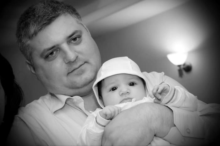 fotografie cu David Alexandru si tatal lui