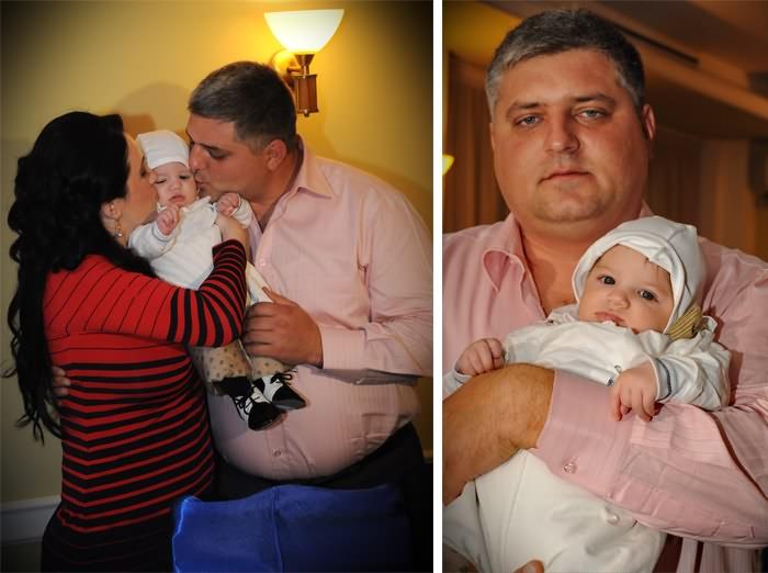 poze de familie cu bebelusul David Alexandru si parintii lui