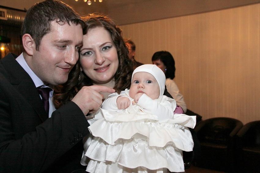 Fotografie botez - Maria cu parintii ei